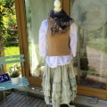 LIVA the totally soft and rich stole hand knitted out of pure silk and kid mohair (not itchy at all)!