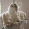 ELIN the totally soft and rich baby alpaca short scarf!